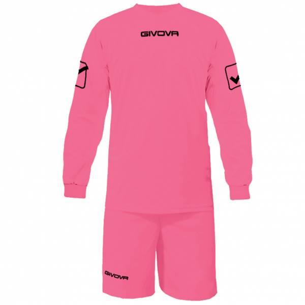 Givova Fußball Set Langarmtrikot mit Short Kit Givova rosa