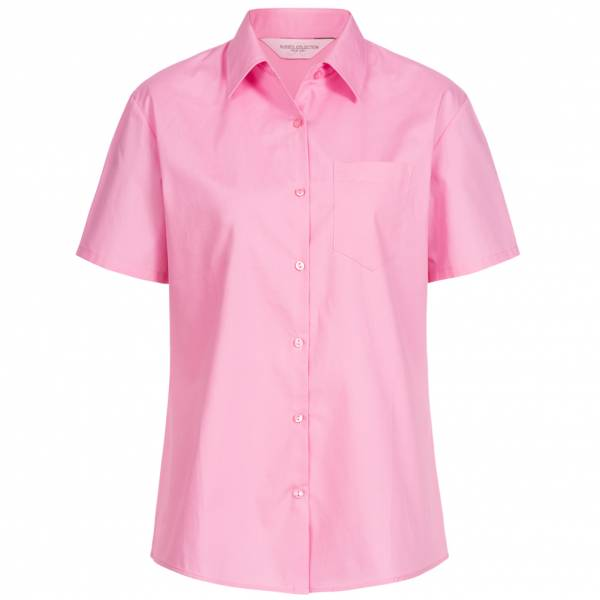RUSSELL Short Sleeve Pure Cotton Poplin Donna Camicia 0R937F0-Bright-Pink