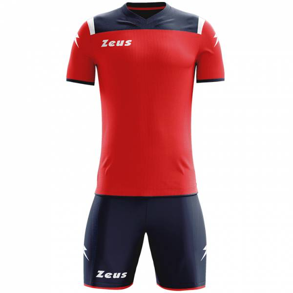 Zeus Kit Vesuvio Conjunto de fútbol 2 piezas Marino rojo