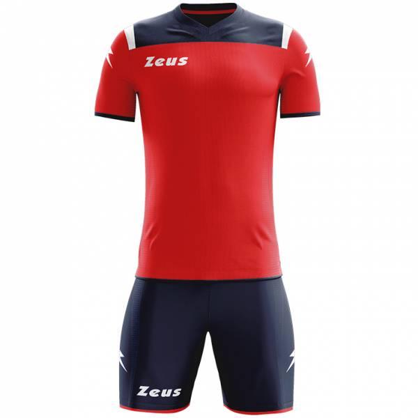 Zeus Kit Vesuvio Football Kit 2-piece Navy Red