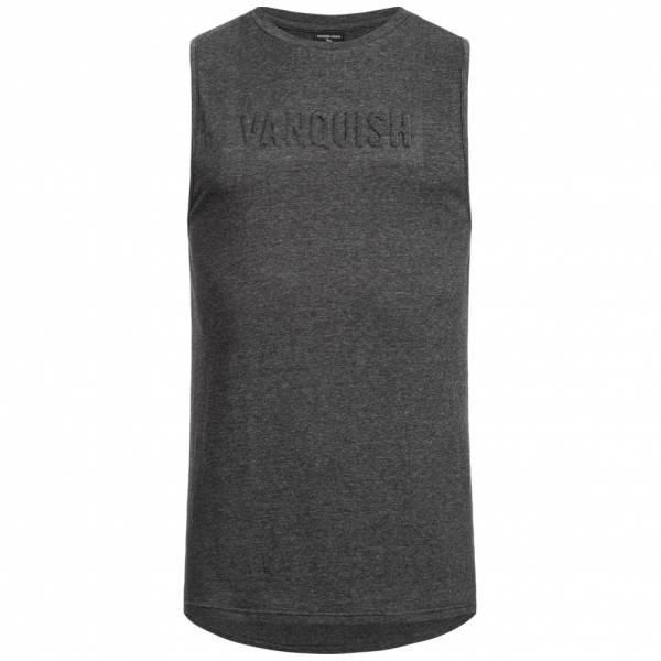 Vanquish Herren Fitness Panel Tank Top Shirt Mid Grey VA-TMG