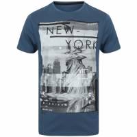 DNM Dissident Liberty Hommes T-shirt 1C12398 Ensign Blue