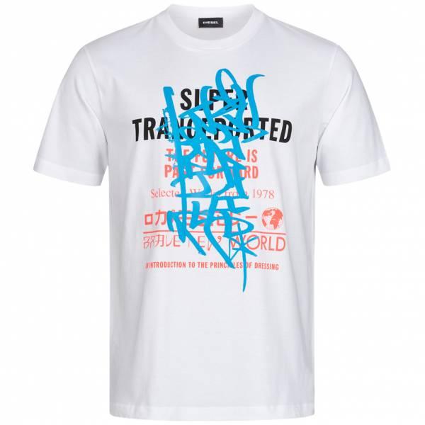 Diesel T-Just-YD Hommes T-shirt 00SNSU 0PATI 100
