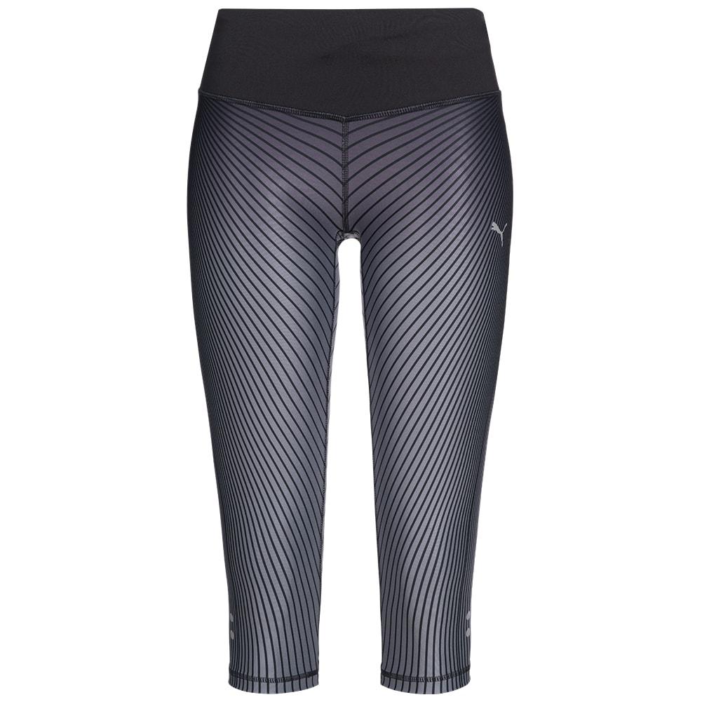 puma graphic damen 3 4 running tights leggings 514333 01. Black Bedroom Furniture Sets. Home Design Ideas