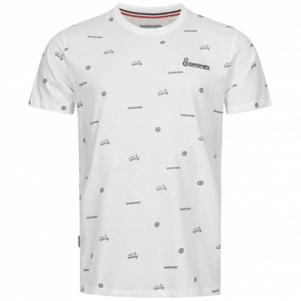 Lambretta Allover Print Scooter Herren T-Shirt SS5288-WHITE
