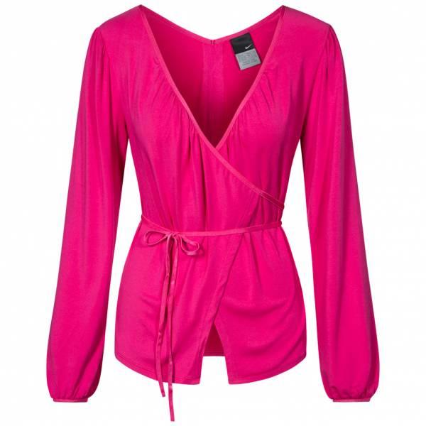 ac638470d24ce Nike Yoga Cover Up Women s Wrap Top Shirt 202646-620
