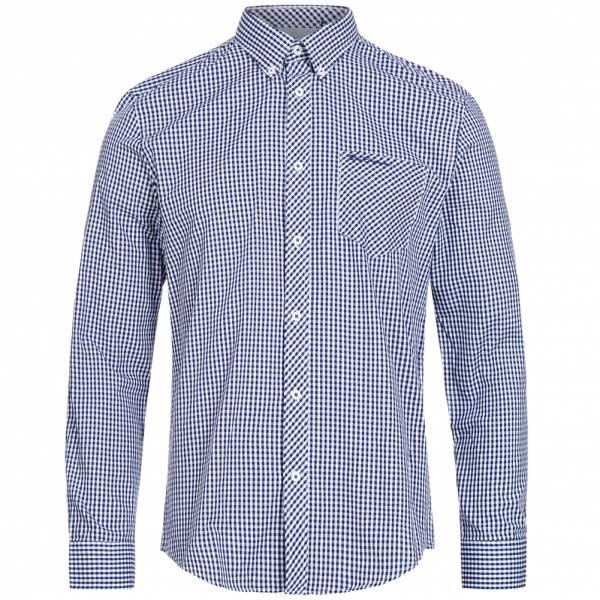 BEN SHERMAN Heren Overhemd met lange mouw 0062082-150 Blauw