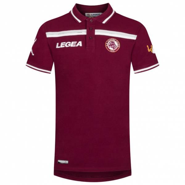 AS Livorno Calcio Legea Uomo Polo a maniche corte rosso scuro