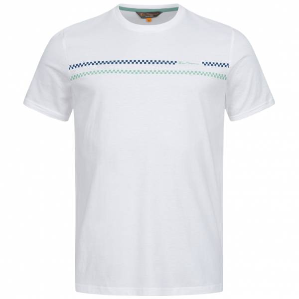 BEN SHERMAN Hombre Camiseta 0062823-010 Blanco