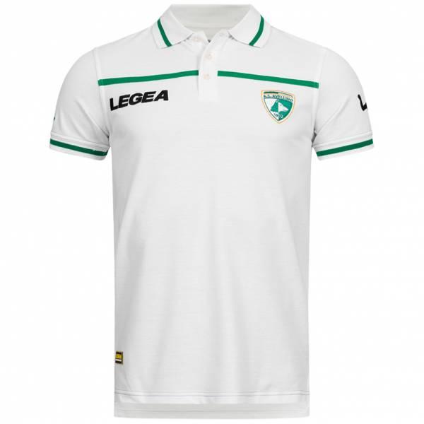 US Avellino 1912 Herren Kurzarm Polo-Shirt weiß