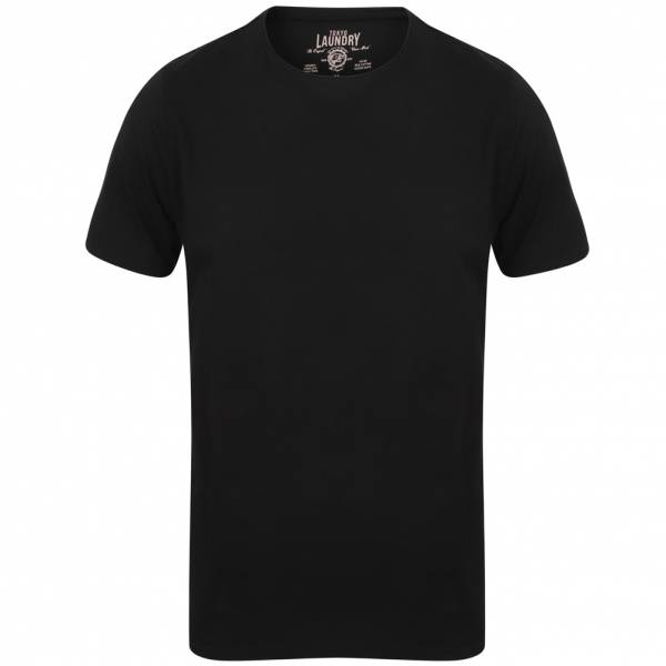 Tokyo Laundry Zac Crew Neck Pocket Herren T-Shirt 1C10666A Jet Black