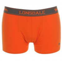 Lonsdale Boxershorts 2 St. fluo orange ohne Eingriff