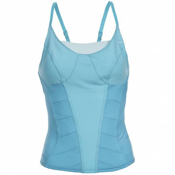 Nike Fitness Dance Corset Shirt Tank Top 226153-470 blau