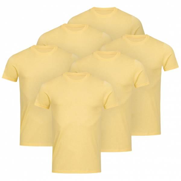 RUSSELL Tee 6er-Pack Herren T-Shirt 0R165M0-Yellow-Marl
