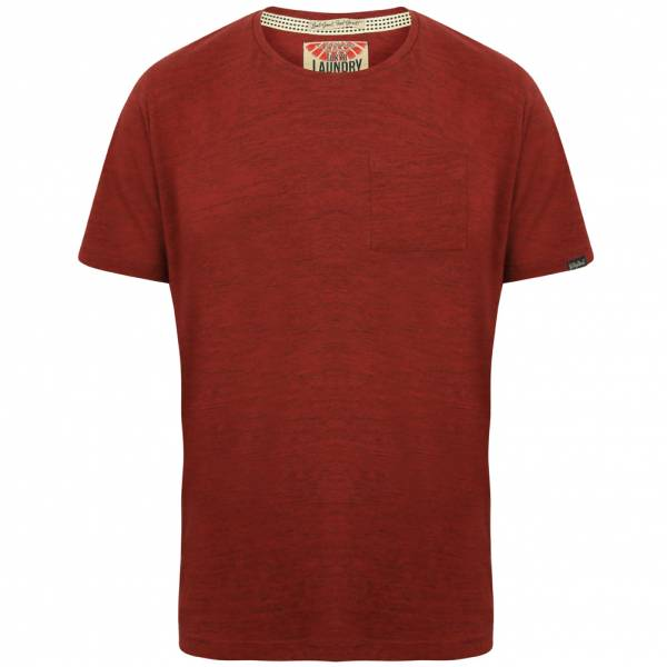 Tokyo Laundry Mews Space Dye Pocket Herren T-Shirt 1C11005 Oxblood