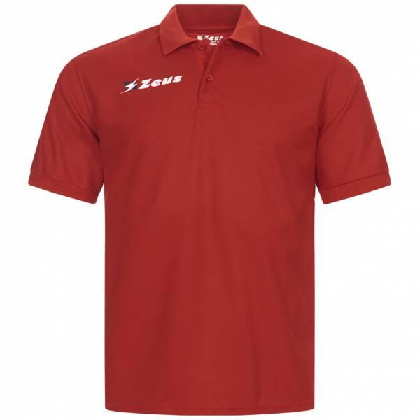 Zeus Basic Herren Poloshirt rot