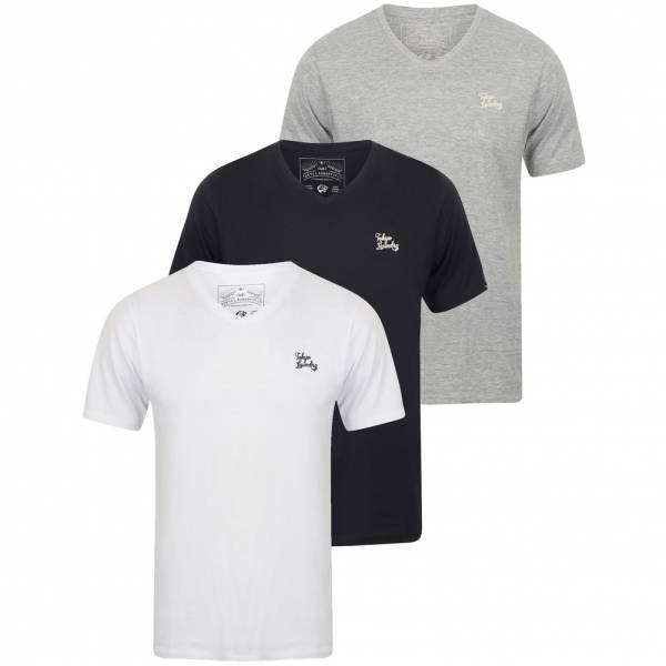 Tokyo Laundry Nousu Herren 3er Pack T-Shirts 1Q11466