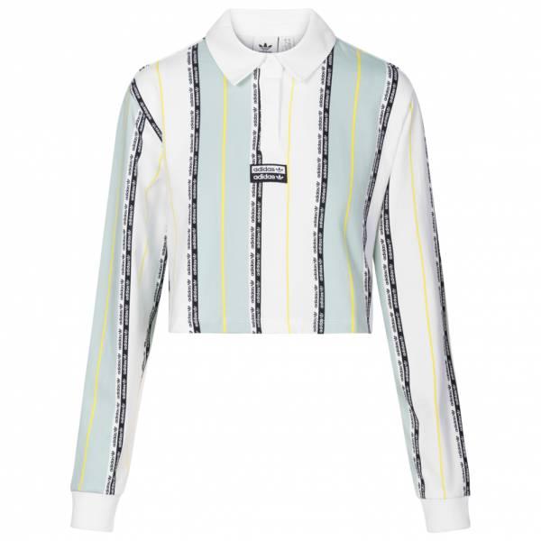 adidas Originals Crop Damen Langarm Polo-Shirt FM2459