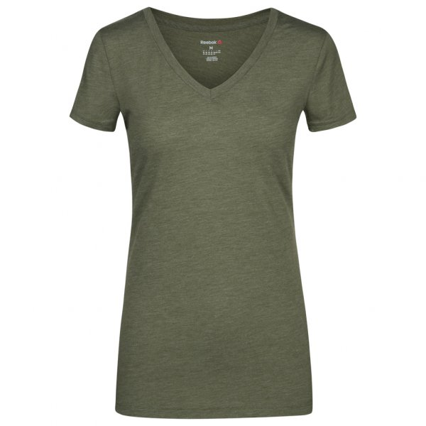 Reebok Global Blank V-Neck Damen Fitness T-Shirt AJ8015