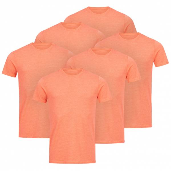 RUSSELL Tee 6er-Pack heren T-shirt 0R165M0-Coral-Marl
