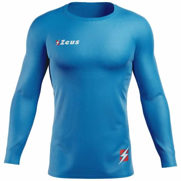 Zeus Fisiko Haut base-layer Haut de sport à manches longues bleu
