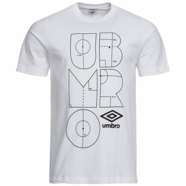 Herren Umbro Herren Markings T-Shirt 61205U-005 weiß|02500018421395