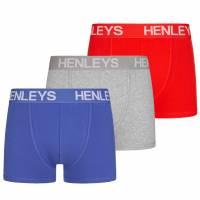 HENLEYS 3er-Pack Herren Boxershorts HOF00557