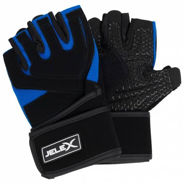 JELEX Power Premium gepolsterte Trainingshandschuhe schwarz-blau