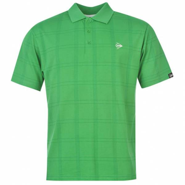 Dunlop Golf Tour Herren Polo-Shirt kariert grün
