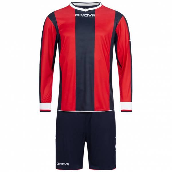 Givova Kit Line Fußball Set Langarm Trikot + Short KITC27-0412
