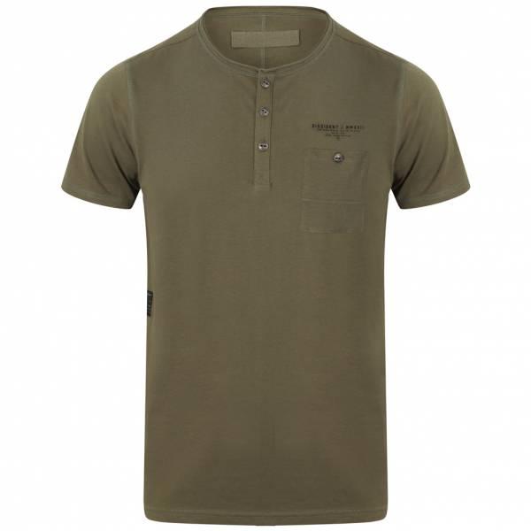 DNM Dissident Yone Herren Pocket T-Shirt 1C10834 Olive Khaki