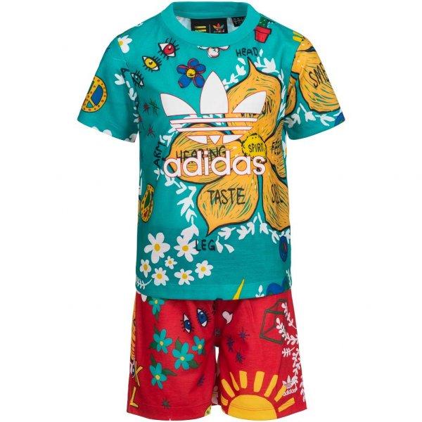 adidas Originals Pharrell Kleinkinder Set Shirt + Shorts 2 teilig AJ9310