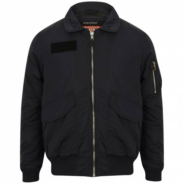 Tokyo Laundry Strathaven Bomber Collare Giacca t Uomo Bomber 1J9733 Navy