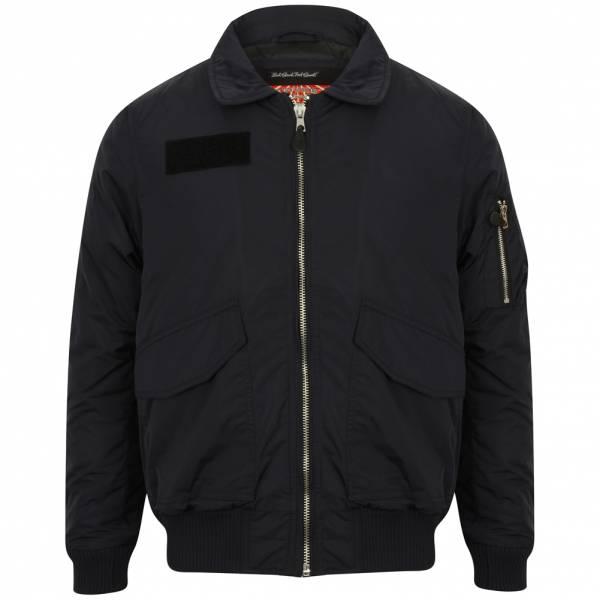 Tokyo Laundry Strathaven Collar Bomber Jacket Herren Bomberjacke 1J9733 Navy
