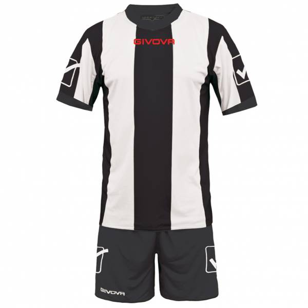 Givova Voetbaltenue Shirt met Shorts Kit Catalano wit / zwart