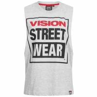 Vision Street Wear Damen Fitness Crew Neck Tank Top Shirt CL3101 grey marl