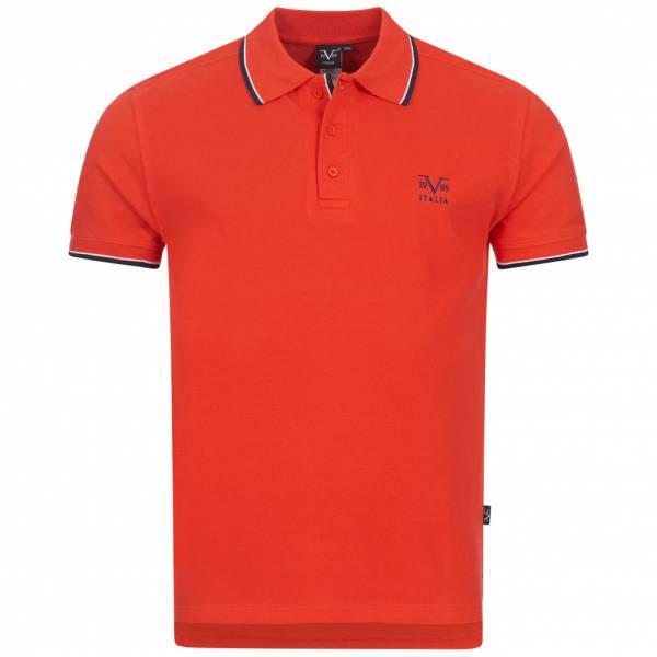 19V69 Versace 1969 Ricamo Basic Herren Freizeit Polo-Shirt VI20SS0005A rot