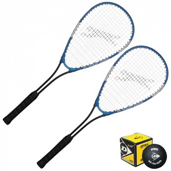 Slazenger Prodigy Squash Racket Set 2 Rackets + Ball 731003