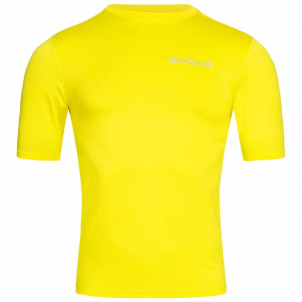 "Camisa funcional capa base Givova ""Corpus 2"" amarilla"