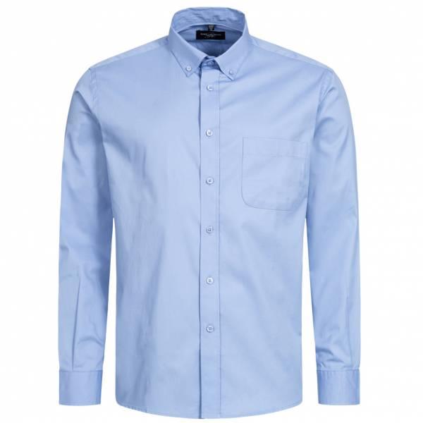RUSSELL Longsleeve Classic Twill Herren Shirt 0R916M0-Blue