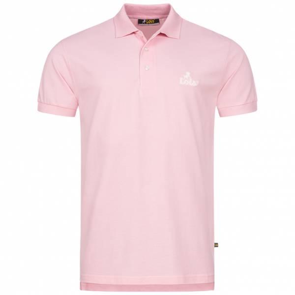Lois Jeans Herren Polo-Shirt 4E-LPSM-Pink