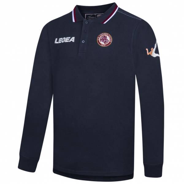 AS Livorno Calcio Legea Herren Langarm Polo-Shirt navy