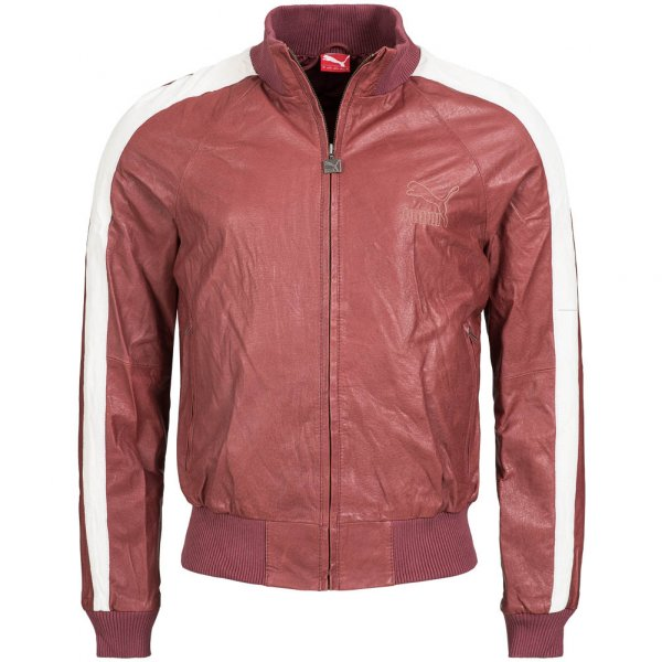 PUMA Heroes Leather Jacket Herren Leder Jacke 554039-01