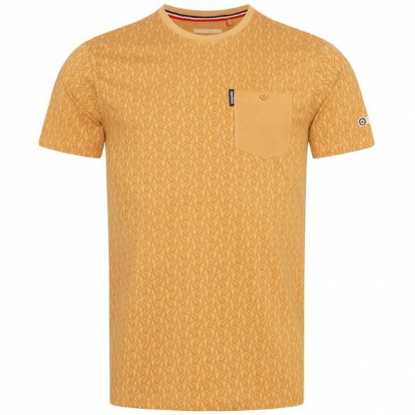 Lambretta Paisley Allover Print Herren T-Shirt SS6807-BISCUIT