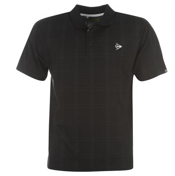 Dunlop Golf Tour Herren Polo-Shirt kariert schwarz
