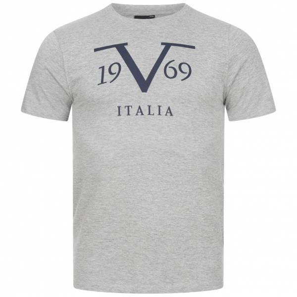 19V69 Versace 1969 Big Logo Stampato Herren T-Shirt VI20SS0011B grau