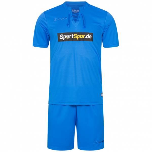 Zeus x Sportspar.de Legend Fußball Set Trikot mit Shorts royal