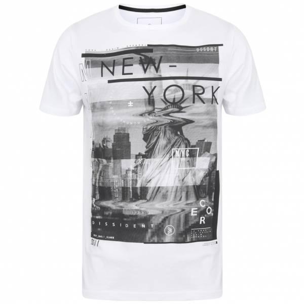DNM Dissident Liberty Uomo T-shirt 1C12398 bianco ottico