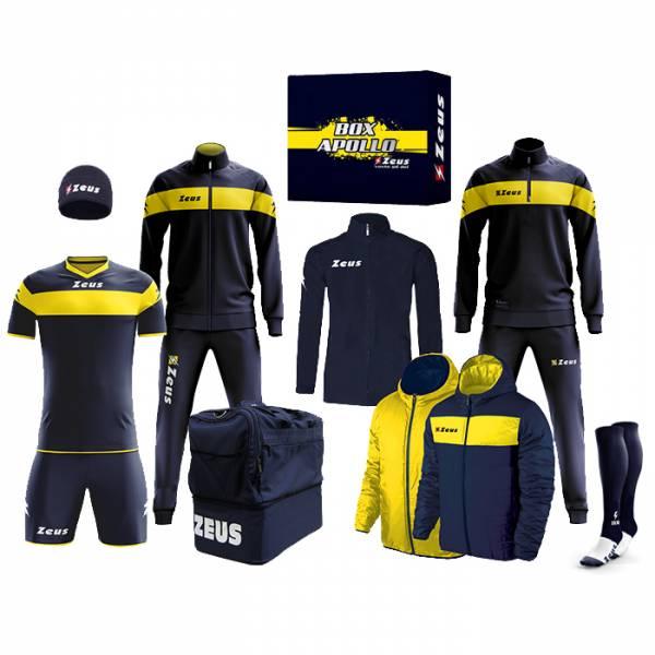 Zeus Apollo Fußball Set Teamwear Box 12-teilig Navy Gelb