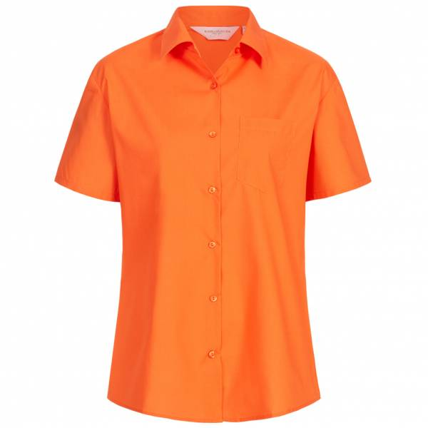 RUSSELL Short Sleeve Poly Cotton Poplin Damen Hemd 0R935F0-Orange